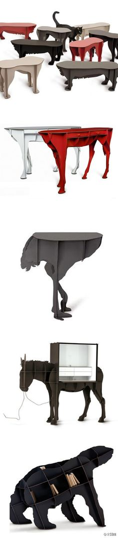 Interesting Animal Tables . . . Ibride Design Team (France)