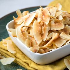 You wont be able to resist snacking on these DIY toasted coconut chips! They're the perfect snack for low carb and special diets.