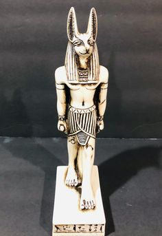 Unique Egyptian God Anubis heavy statue large marble stone , home decor, office decor . made in egypt by SNgiftshop on Etsy Anubis Statue, Egyptian Cats, Cat Statue, Marble Stones, Vintage Cat, Collectible Figurines, Ancient Egypt, Trending Outfits, Wonder Woman
