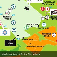 V Festival Site Navigator venue map for mobile