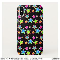 Shop Gorgeous Pretty Galaxy Hologram Bright Star Case-Mate iPhone Case created by ONME_Prints.