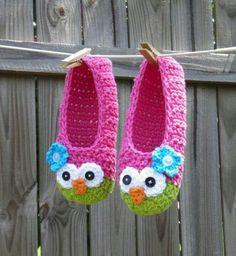 Receita sapatinho de crochet corujinha para crianças