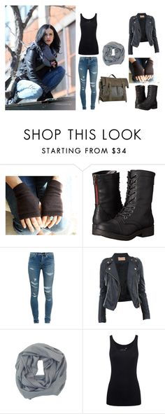 """""""Jessica Jones Cosplay"""" by misssherbear ❤ liked on Polyvore featuring Madden Girl, Yves Saint Laurent, CO, Tory Burch, Juvia, Sherpani, women's clothing, women's fashion, women and female"""