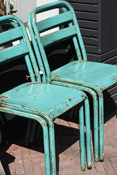 Chairs turquoise; check. These out:)