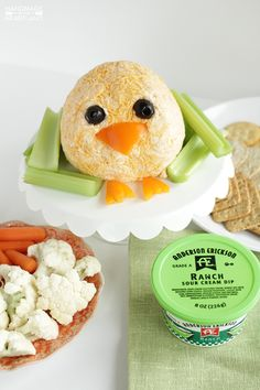 Easter Chick Cheeseball:  Every holiday gathering needs a good cheeseball, and this little chick is adorable!