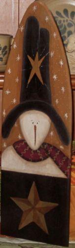 Primitive HP Folk Art Prim Snowmen Barn Star Stretcher | eBay