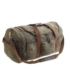 J.Crew Abingdon sporting duffel | $198 | gifts for the sporty guy | mens sporting bag | duffle bag | athletic | sports | menswear | mens style | mens fashion | wantering http://www.wantering.com/mens-clothing-item/abingdon-sporting-duffel/ad0kR/