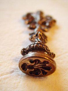 fleur de lis letter seal italy brass metal stamp italian sealing wax