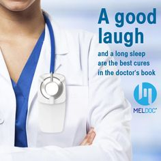 A good Laugh and a long sleep are the best cures in the doctor's Book Doctor Assistant, Dr Book, The Cure, Sleep, Good Things, Books, Libros, Book, Book Illustrations