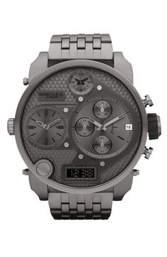 DIESEL® Time Zone Oversized Bracelet Watch available at #Nordstrom