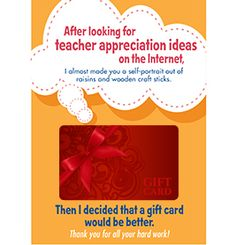 Gift Card Holders | 9 Quick and Easy Teacher Appreciation Gifts | PTOToday.com
