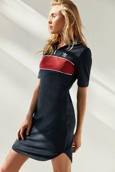 Slide View: 1: adidas Originals Zip-Front T-shirt Dress