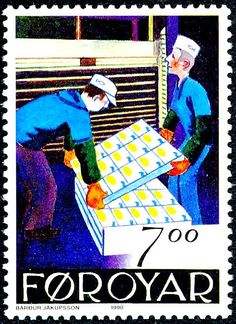 De postzegels van Faroer in 1990 Check more at https://www.postzegelblog.nl/2017/09/30/postzegels-faroer-1990/