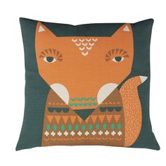 Donna Wilson – Fox Cushion – Orange – Front https://www.donnawilson.com/products/for-home/cushions