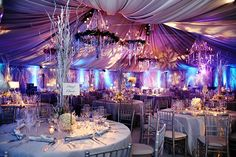 Stunning linings and fantastic lighting to create the perfect winter wedding in this marquee