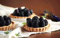 Blackberry Goat Cheese Tart.  Incredibly delicious.  It's not too savory and not too sweet and the crust is half whole wheat!