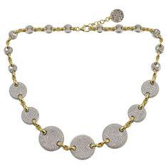 68e35531cb9 Diamond Disc Necklace Disc Necklace, White Gold, Jewelry Necklaces, Diamonds,  Diamond