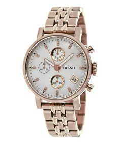 Rose Gold & Mother-of-Pearl Boyfriend Chronograph Watch by Fossil  #zulilyfinds