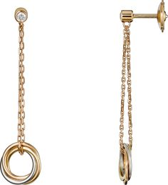 CRB8043300 - Trinity de Cartier earrings - White gold, yellow gold, pink gold, diamonds - Cartier