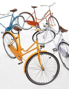 serie stoccolma bikes from note + abici Note Design Studio, Notes Design, Bike Illustration, Beautiful Interior Design, Vintage Bicycles, Bike Design, Design Trends, Pretty, Modern