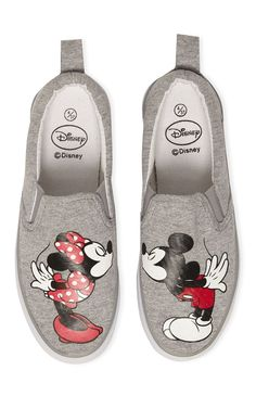 Primark - Zapatillas grises de Mickey y Minnie