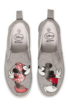 Primark - Zapatillas grises de Mickey y Minnie                                                                                                                                                                                 Más