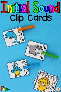 Are you looking for a hands-on beginning sounds activity for your kids? These Animal Beginning Sounds Clip Cards are a fun way for pre-readers to practice identifying initial sounds and develop their fine motor skills. This independent phonics activity is perfect for literacy centers, morning tubs, small groups, or as an enrichment activity. Click on the picture to get these free beginning sounds clip cards! #beginningsounds #phonicsactivity #clipcards #finemotorskills #finemotorskillsactivity