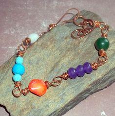 Multi Color Copper Bracelet, $23.40