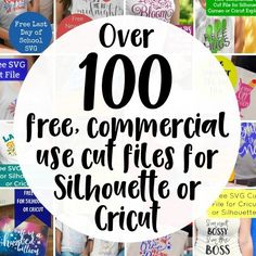 Pick up free commercial use cut files - and a business tip (or two!) on the Cutting for Business blog.