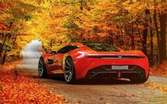 Aston Martin DBC supercar autumn leaves HD Wallpaper - http://www.hdwallpaperuniverse.com/aston-martin-dbc-supercar-autumn-leaves-hd-wallpaper/
