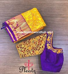 Maggam work blouse are presently in huge demand and these blouses are ever green and will never go out of fashion. A simple stone line with beads work will Latest Maggam Work Blouses, Saree Blouse, Blouse Designs, Fashion, Moda, Fashion Styles, Fashion Illustrations, Fashion Models