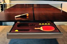 conference table and tennis ping pong Table Tennis Rubber, Tennis Table, Ping Pong Paddles, Cool Tables, Conference Table, Office Table, Table Games, Game Tables, Ping Pong Table