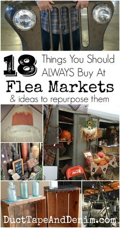 18 things you should buy at flea markets ~ ideas to repurpose them ~ DuctTapeAndDenim.com