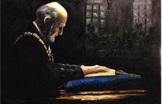 """In Thy Name We Have Assembled""- Framed Original Oil Painting - Ryan J Flynn Masonic Artist"