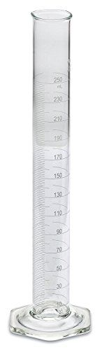 """#wow #Corning Pyrex 250mL graduated cylinders are single-metric calibrated """"To Deliver"""" (TD) and have white enamel graduations. Height: approximately 340mm. Oute..."""
