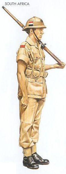 South Africa - 1940 Dec., North Africa, Private, Kimberley Regiment British Army Uniform, British Uniforms, German Uniforms, Military Uniforms, Army Drawing, North African Campaign, Italian Army, Army Infantry, War Image