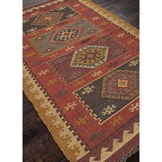 The Bedouin collection is hand woven in wool and jute . It has a rustic ,authentic look inspired by traditional kilimm patterns in rich rusts, blues and golds. The collection has a vintage, eclectic l
