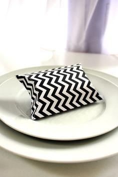 Chevron Design Printable Pillow Box 17 colors available. $3.50, via Etsy.
