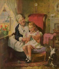 1000 bilder zu oma opa im sessel auf pinterest mary engelbreit gro m tter und norman rockwell. Black Bedroom Furniture Sets. Home Design Ideas