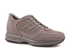 Hogan Interactive sneaker in Dark Gray Suede leather - Italian Boutique €200