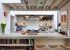 Extension by Fraher Architects gives a new kitchen to a cook
