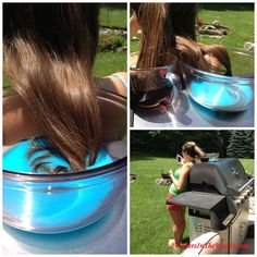 Kool aid hair dye how to DYING MY STEP DAUGHTERS TIPS RED LETS SEE IF IT WORKS SHES A BRUNETTE!