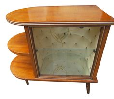 Fantastic Art Deco 1920/30s Walnut Drinks Cabinet / Bar / Cocktail Cabinet - With Lamp by TheBritishInvasion on Etsy