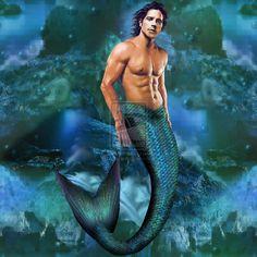 Image detail for -merman by myriadelle digital art paintings airbrushing fantasy 2012 ...
