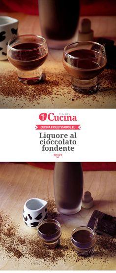 Liquore al cioccolato fondente della nostra utente Elena. Unisciti alla nostra Community ed invia le tue ricette!