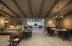 One of the indoor/outdoor entertaining spaces.