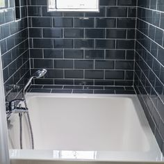 A beautiful ofuro, or Japanese soaking tub perfect for small spaces. Japanese Bathtub, Japanese Soaking Tubs, Deep Soaking Tub, Japanese Style Bathroom, Tub Shower Combo, Shower Tub, Shower Tiles, Small Bathtub, Small Bathrooms