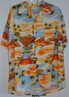 Men's XL Hawaiian Shirt -Made in Hawaii by Handsome -Palm Trees- Rayon #Handsome #Hawaiian http://cgi.ebay.com/ws/eBayISAPI.dll?ViewItem&item=141347404358&ssPageName=STRK:MESE:IT