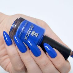 Summer Brights with Jessica Prime Collection // Talonted Lex Matte Acrylic Nails, Acrylic Nail Designs, Christmas Manicure, Holiday Nails, Summery Nails, Royal Blue Nails, Artificial Nails, Nail Decorations, Natural Nails