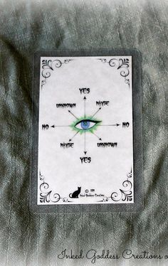 Pendulum divining has been done for centuries to seek answers to questions and possibly foretell the future. This Pendulum Card from Inked Goddess Creations makes interpreting the pendulum's swing eas